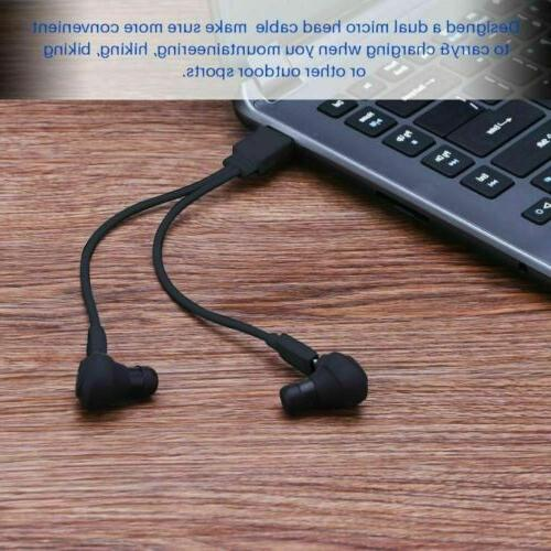 Dual Wireless Earphone Earbuds Android Universal
