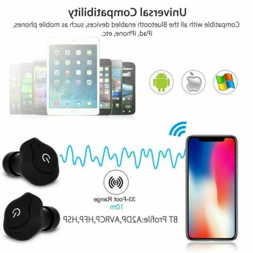 Dual Wireless Earbuds Android iOS Universal