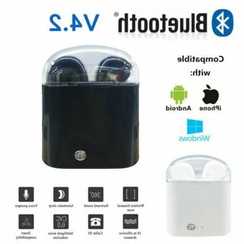 dual wireless bluetooth earphone earbuds for apple