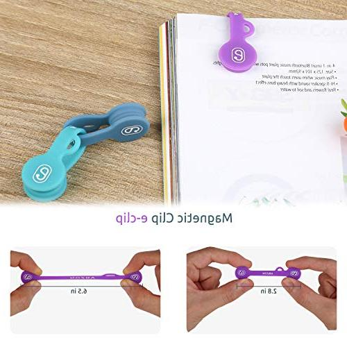 ABZON Magnetic Cable Clips Earphone Cord USB Bookmarks/Keychain, Cable Step to Your Cables.