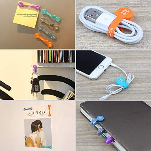 ABZON Earphone Cord Organizer Soft for USB Cable, Use as Bookmarks/Keychain, to Your Cables.