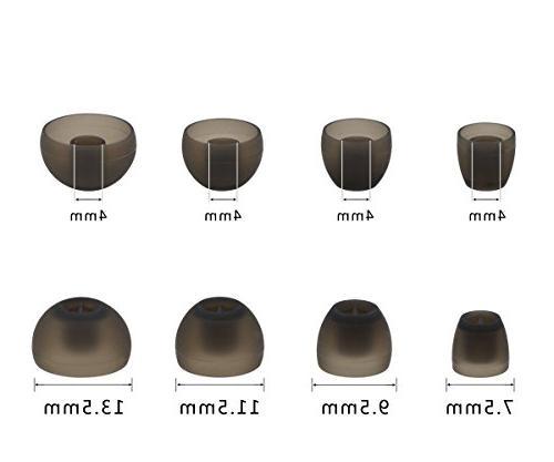 ALXCD Sennheiser Earbud, XS/S/M/L 8 Pair Replacement Adapters, Earphone