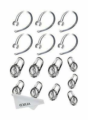 ALXCD Earbud & Ear ALXCD Pcs Replacement Pcs Clear Hook, Fit for Plantronics M165 M100 M28 M25