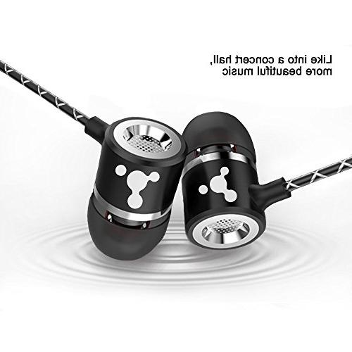 Earbuds with Microphone, PACK Headphones AUX Headset ,iPhone, MP3 iPod iPad any Audio Jack