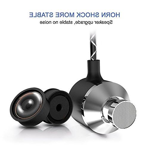 Earbuds PACK Silver Headphones 3.5 AUX Cancelling Headset for Samsung ,iPhone, Pixel iPod iPad any other with Jack