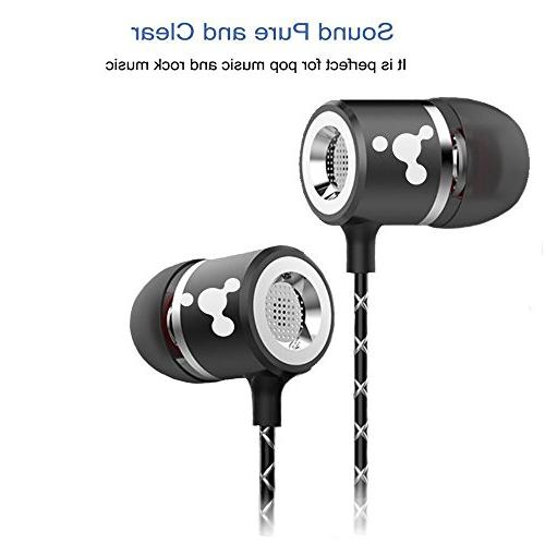 Earbuds PACK and Silver Headphones with AUX JACK Noise Headset for Samsung ,iPhone, Pixel MP4 iPod iPad HP any other Jack