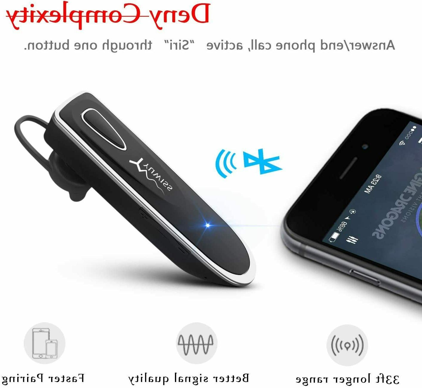 YUWISS 24Hrs Headset for Cell Phones