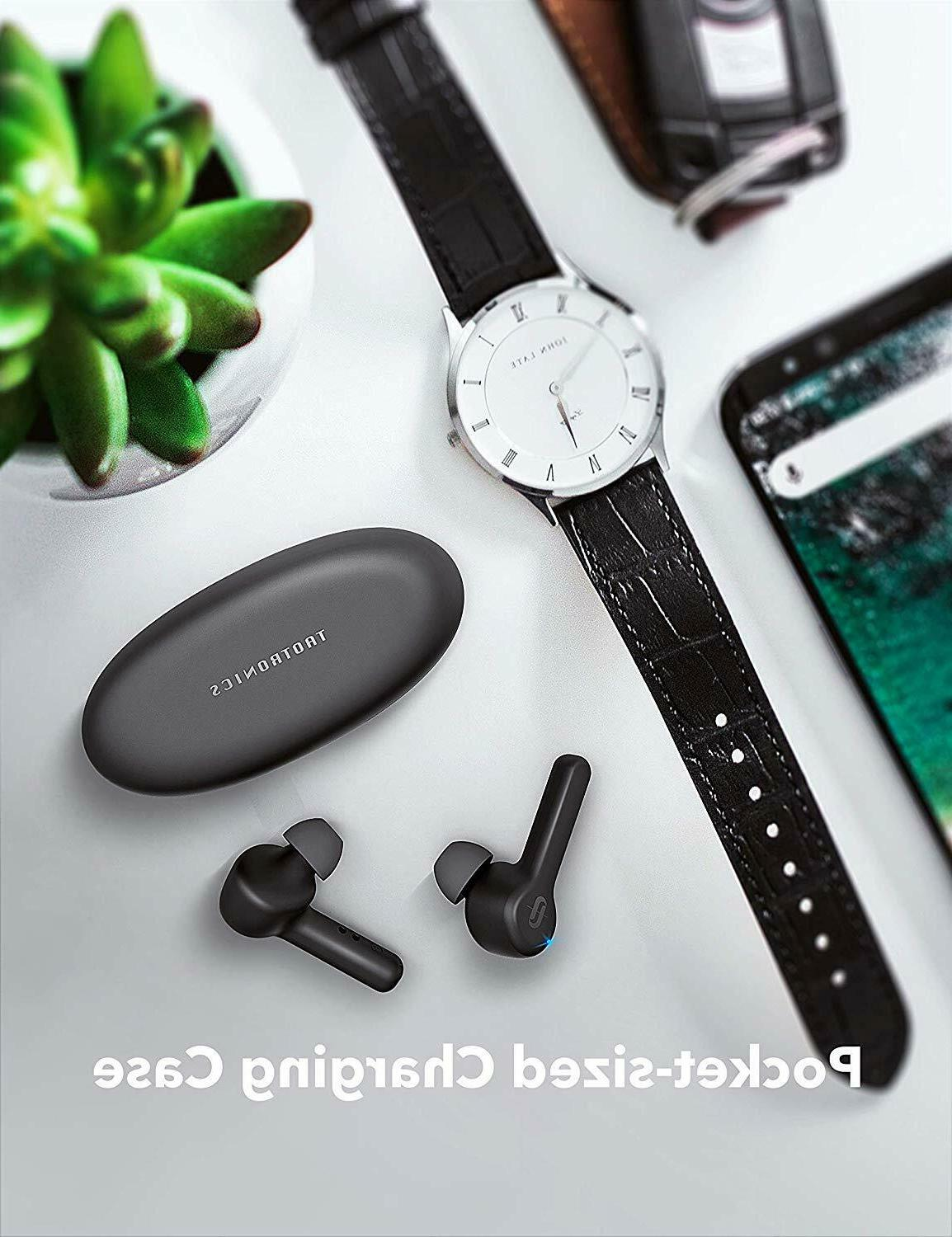 TaoTronics Bluetooth 5.0 TWS with case