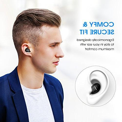 a2e5058b60f Mpow EM6 Single Bluetooth Earbud, Earbud Headphone for Phones