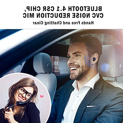 Mpow V4.1 w/Volume Playtime Mini Bluetooth Invisible with Noise Cell