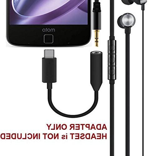 3.5mm Female Male Audio Headset Jack USB-C Jack Earphone for Z Droid