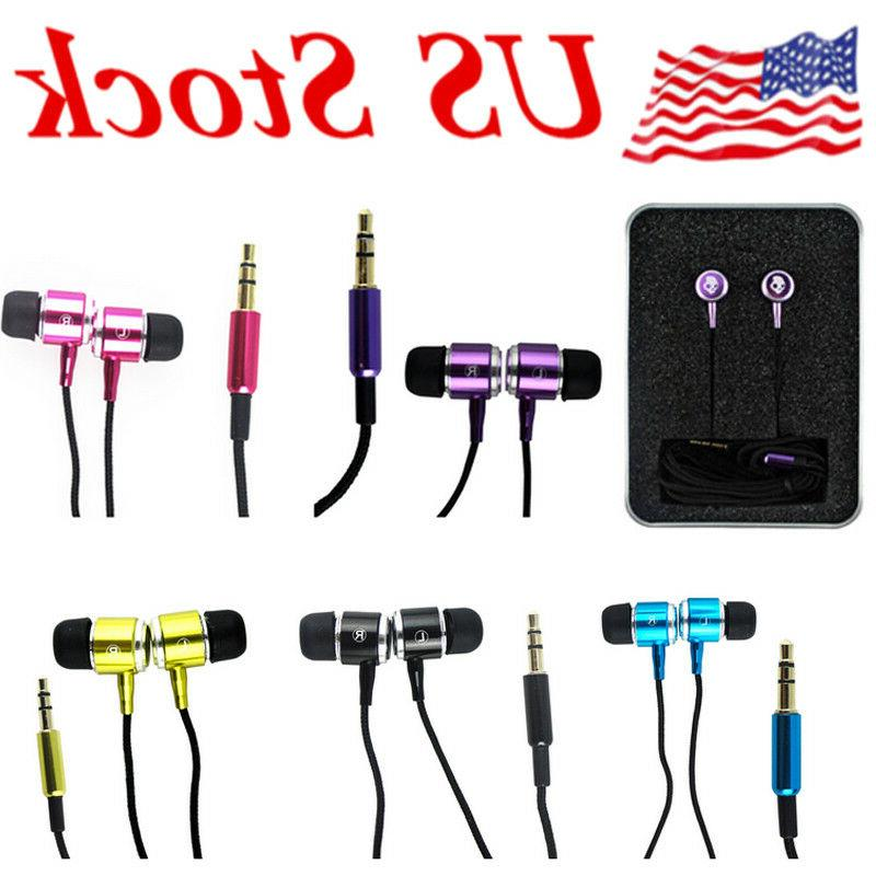 Foldable the In Ear 3.5mm Headphones Earphone US
