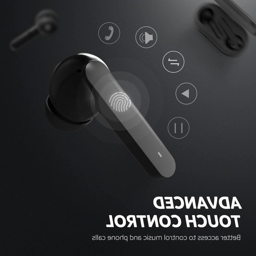 <font><b>SoundPEATS</b></font> 5.0 <font><b>True</b></font> <font><b>Wireless</b></font> TWS Mic Earphones