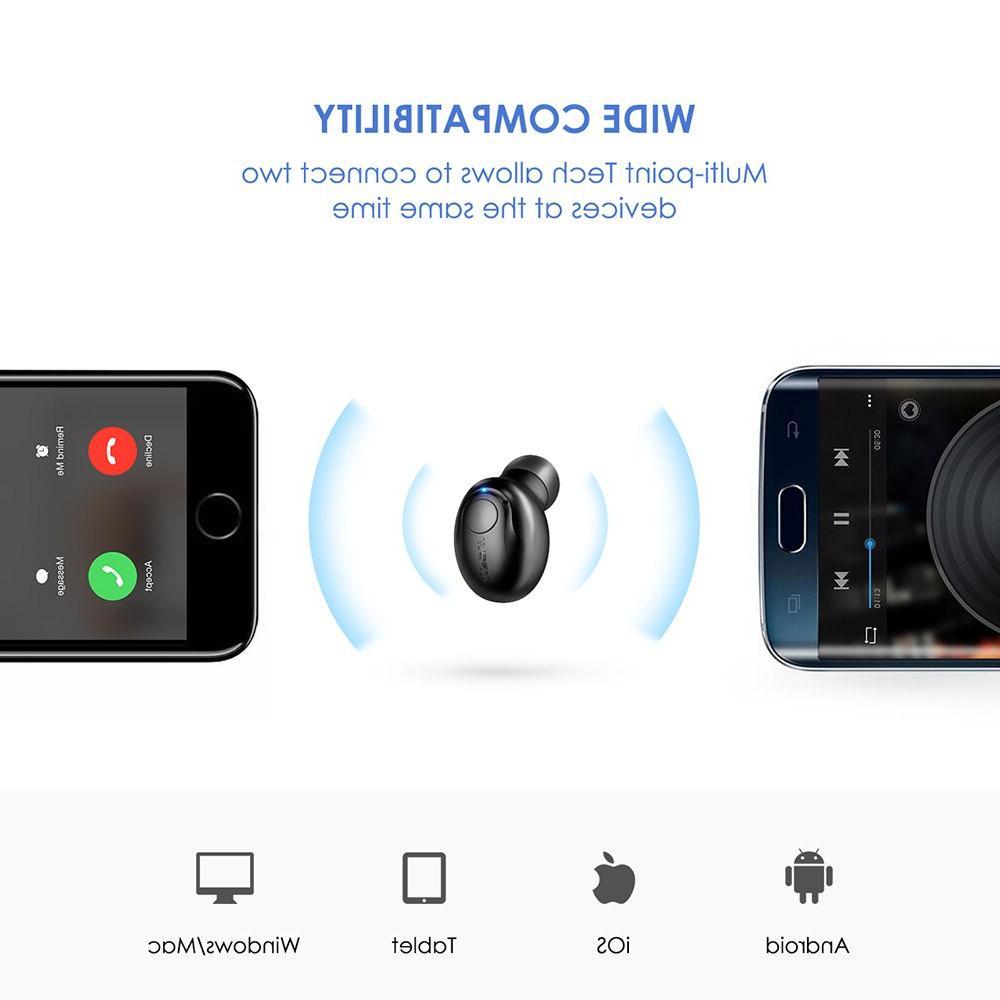 <font><b>Mpow</b></font> EM1 Single Earphone 4.1 Earpiece Bluetooth <font><b>Earbud</b></font> With Mic