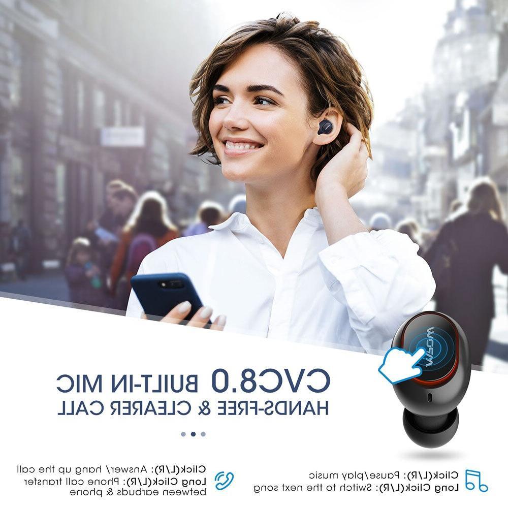 <font><b>Mpow</b></font> T5/M5 5.0 Earphone <font><b>Wireless</b></font> Handsfree Earphones AptX <font><b>Earbuds</b></font> IPX7 Waterproof 36 Playtime