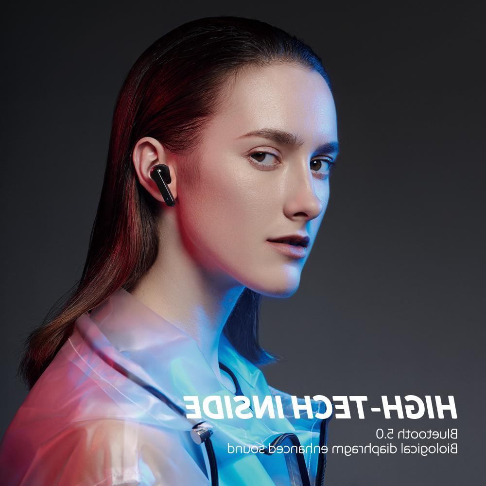 <font><b>SoundPEATS</b></font> Wireless 5.0 Earphones in-Ear Stereo Earphones with Mic Headset