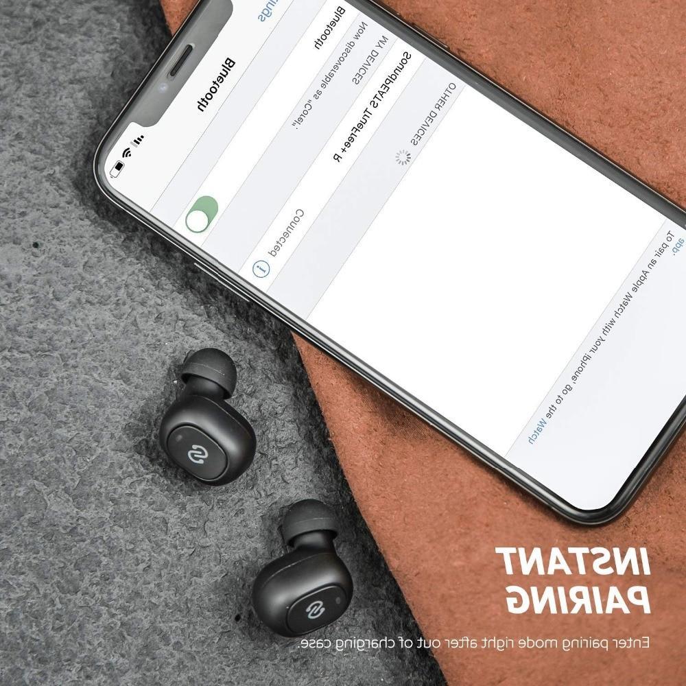 <font><b>SoundPEATS</b></font> 5.0 Wireless Earphones Wireless <font><b>Earbuds</b></font> Microphone