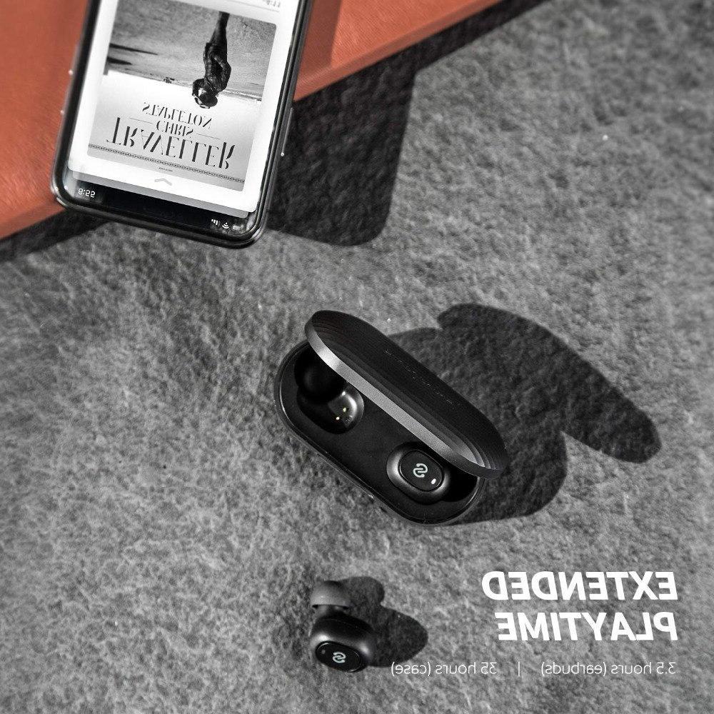 <font><b>SoundPEATS</b></font> <font><b>Bluetooth</b></font> <font><b>Earbuds</b></font> <font><b>Bluetooth</b></font> Wireless Stereo Headset with Microphone