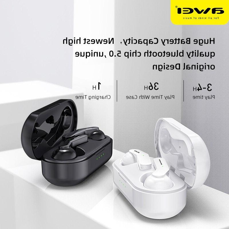 <font><b>AWEI</b></font> TWS True <font><b>Earbuds</b></font> With Dual Mic Noise Canceling HiFi Gaming Headset