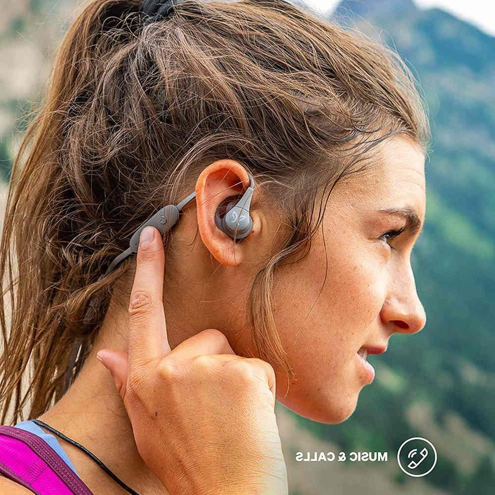 Logitech <font><b>Bluetooth</b></font> & Water Music & Calls Sport Headphone <font><b>Earbuds</b></font> Mic