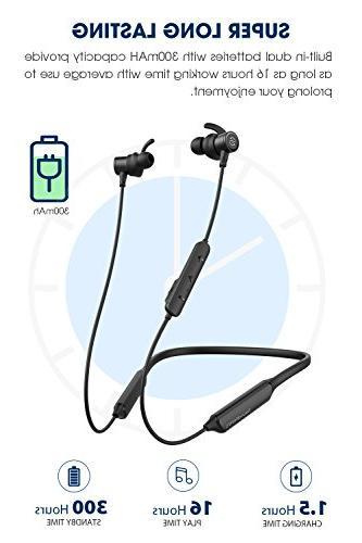 SoundPEATS Wireless Neckband Headset Stereo in-Ear Earbuds