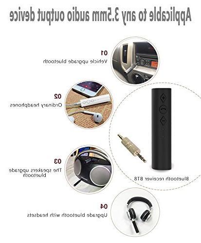 elegantstunning 4.2 3.5mm AUX Stereo Audio Receiver Adapter, Plug