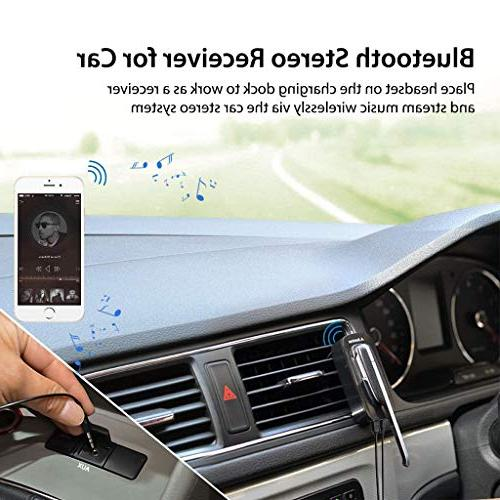 Avantree Handsfree 2-in-1, Hands with Extended Clear Calling, Audio Music Adapter with 3.5mm Aux for Stereo - Ego