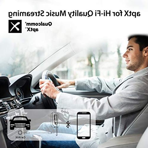 Avantree Handsfree Headset & Bluetooth 2-in-1, Free Earpiece with Extended Clear aptX Audio with 3.5mm Aux for Car