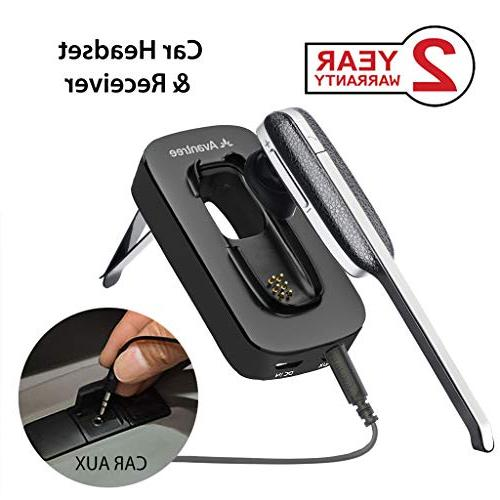 handsfree wireless headset and car bluetooth receiver
