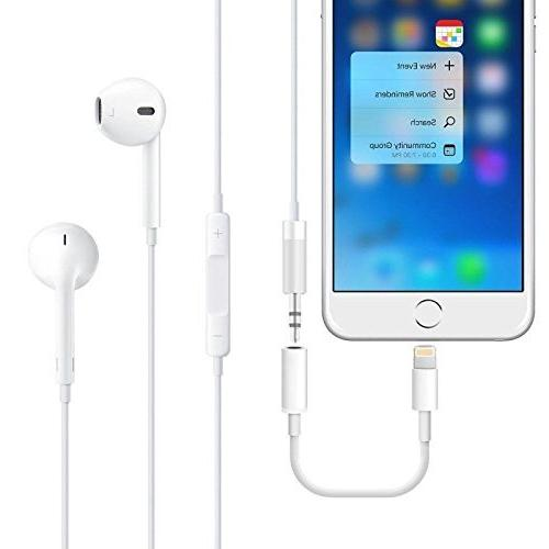 Headphone Adapter X Plus, to mm Headphone Jack Adapter Connector AUX Jack Stereo for / Compatible iOS