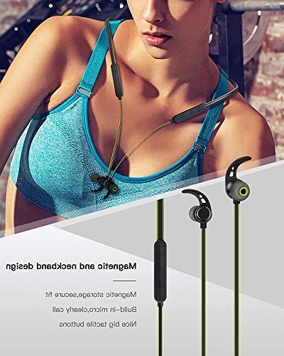 Headphones Wireless Sports Earphones Earbuds Time,Sweatproof Hi-Fi Bluetooth