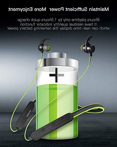 Headphones Earphones Magnet V4.1 Heavy Time,Sweatproof Stereo Devices-Green/Black