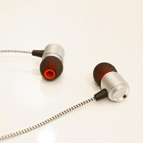 Hi-Fi with Audio Adapter Converter Metal Earbuds Silver Z Droid