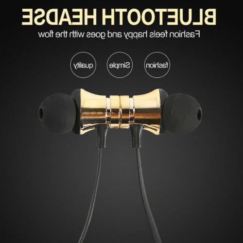HOT Magnetic Bluetooth Earphone Headset Wireless Earbuds