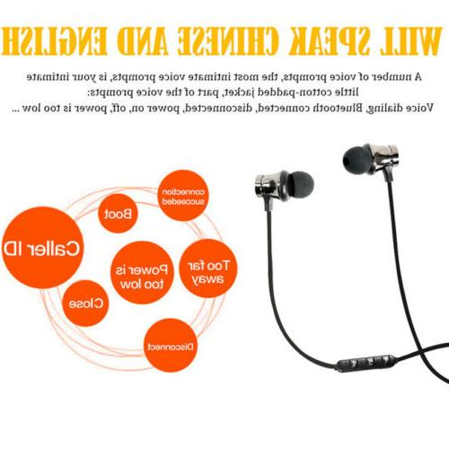HOT Magnetic Bluetooth Stereo Headset Wireless