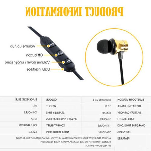 HOT In-Ear Headphone Bluetooth Stereo Earphone Headset Wireless