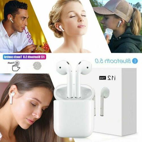 i12 TWS Bluetooth 5 0 Headphone Wireless Earbuds Headsets