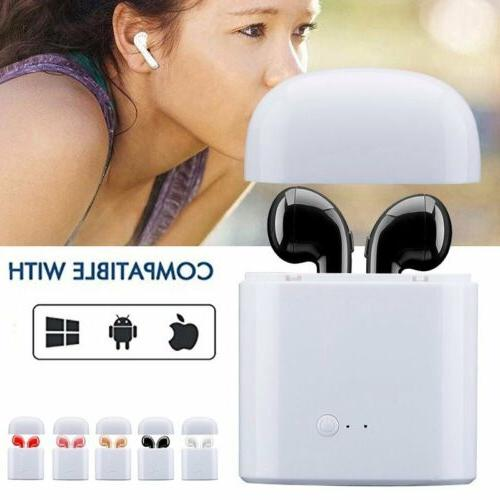 I7 Bluetooth Headset Twins Wireless Charger Box