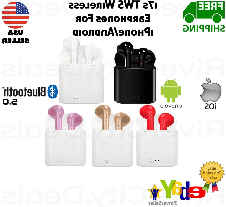 i7s wireless bluetooth earphones earbuds headphones