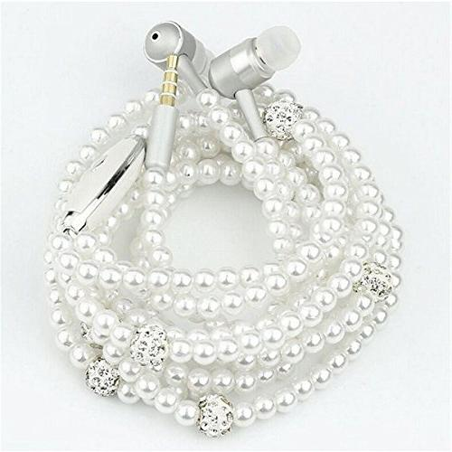 in ear wired pearl necklace universal 3