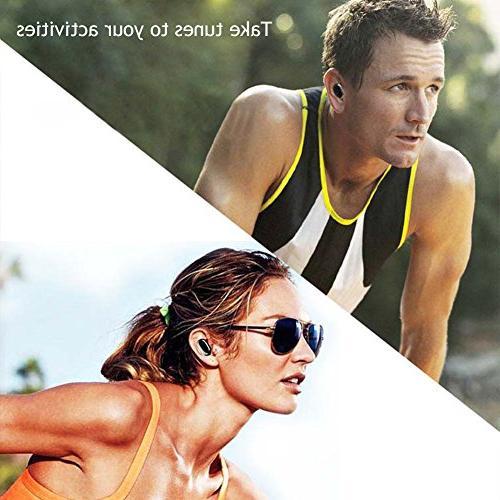 IP68 Waterproof Swimming Earbud - Sport Wireless Headphones Sweatproof Fit Headsets Driving