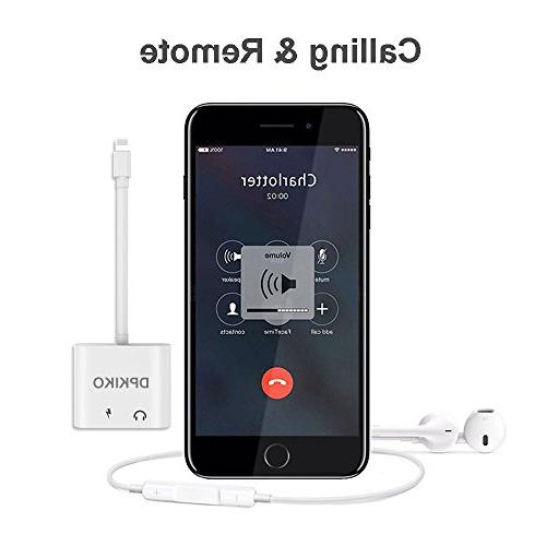 DPKIKO Splitter Compatible iPhone 7, 7Plus, 8, 8Plus, X, 8 Jack & Connector Charger Cable
