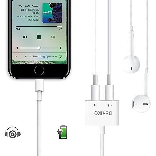 DPKIKO Headphone Splitter Replacement 7, 8Plus, X, Jack Charge Call Connector