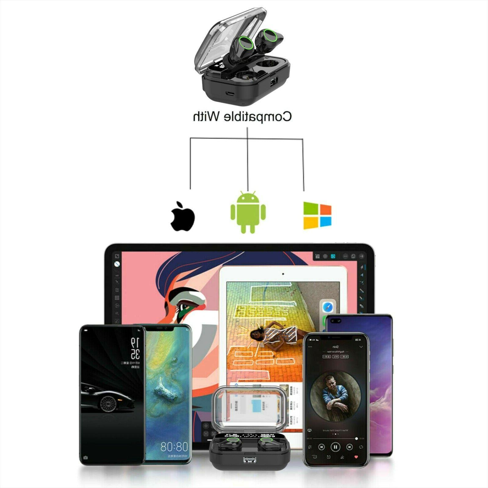 True Earbuds 5.0 Waterproof Headset Headphones With Case