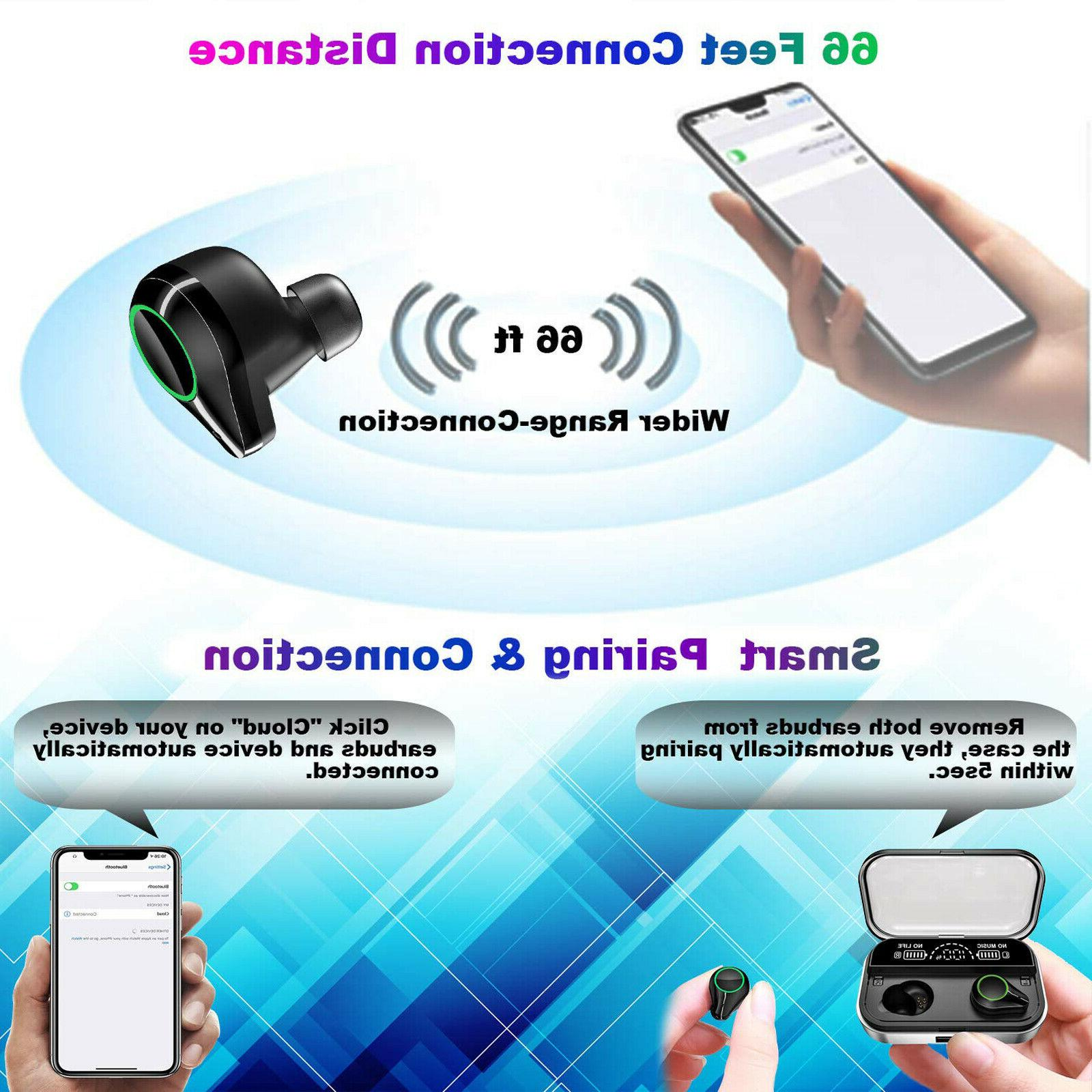 True 5.0 Waterproof Headphones With Case