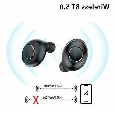 IPX7 True Stereo 5.0 Wireless Headset Headphone