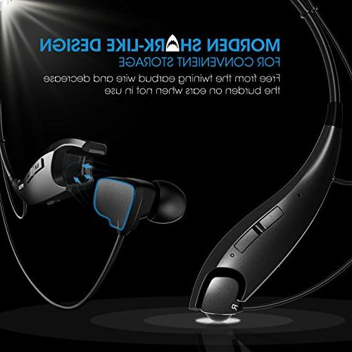 Mpow Headphones Headset Vibrate Alert, Built-in Mic, Cell