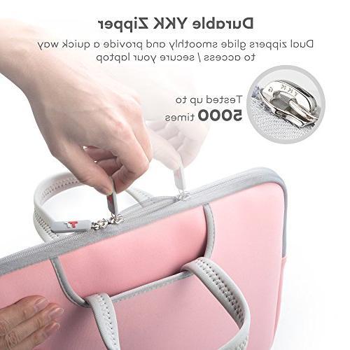 "TaoTronics Laptop Sleeve Cover for 13"" Air Notebooks, Ultrabooks Zipper, Shockproof Scratchproof EVA"