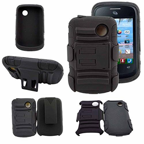 Case, 306G LG Holster With Locking Belt Swivel 2 Cables Stylus