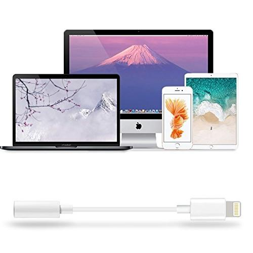 2 Headphone Jack Adapter, Connecter Audio 8/8 Plus/Phone Plus